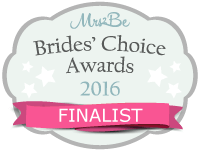 Embracing Life Ceremonies were awarded the Bride's Choice Award Finalist of 2016